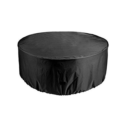 rayinblue 6 Seater Round 1.1x2.3m Outdoor Waterproof Patio Furniture Set Cover Covers Table Bench Garden