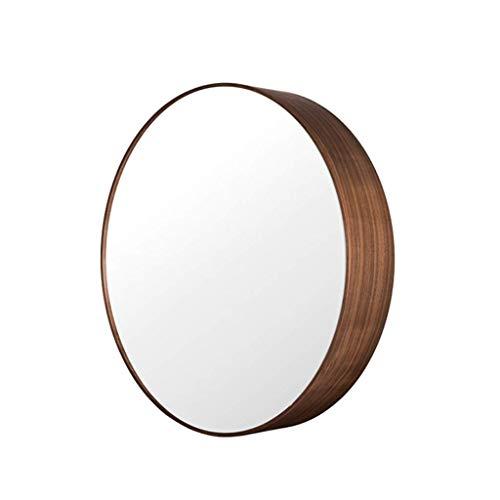 Lustro wejściowe Czarny orzech biały wosk do przechowywania z litego drewna z szafką wiszącą na ścianie łazienka sypialnia lustro kosmetyczne