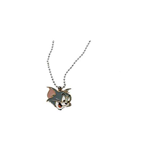Tom und Jerry Tom Jerry Jerry Halsketten Retro European and American Cartoon Series Halsketten Erde Cool Girl Trampy Halsketten für Frauen Tom