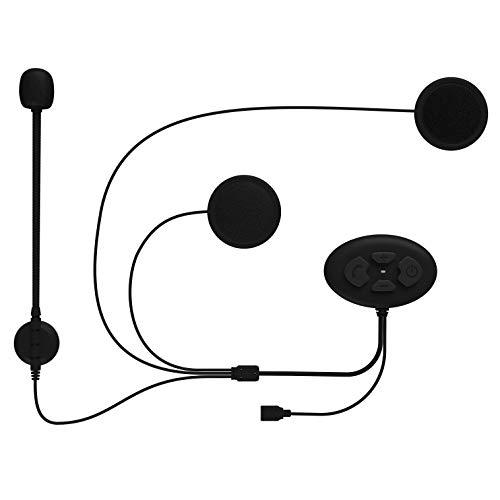 Auricolare Bluetooth con Microfono,Cuffie Bluetooth per Casco Moto Motocicletta Cuffie Senza Fili Bluetooth 5.0 Altoparlanti Stereo Doppio Hands-Free con Controllo del Rumore DSP IP65 Impermeabile