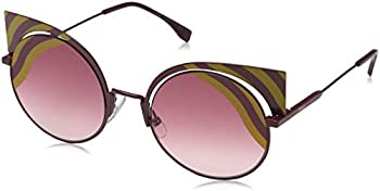 Fendi Burgundy Gradient Cat Eye Sunglasses
