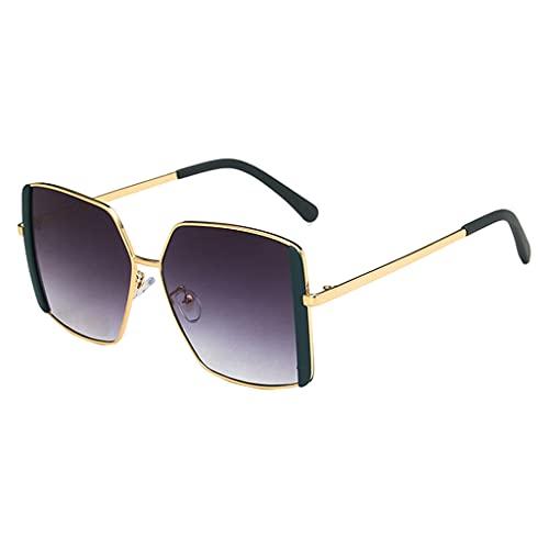 perfeclan Gafas de sol cuadradas retro clásicas Moda vintage Protección UV400 Ligero Conducción Pesca al aire libre Gafas Accesorios Hombres Mujeres Gafas de - Verde