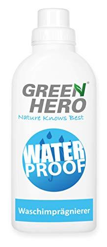 Green Hero Textil Waschimprägnierung Imprägniermittel für Funktionstextilien und Outdoortextilien wie Gore-Tex Sympatex Waschmaschine oder Handwäsche Einwaschimprägnierung 500ml