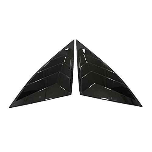 JTSGHRZ 자동차 후방 창 삼각형 셔터 커버 트림 블랙 탄소 섬유 외관 현대 TUCSON NX4 2021 2022