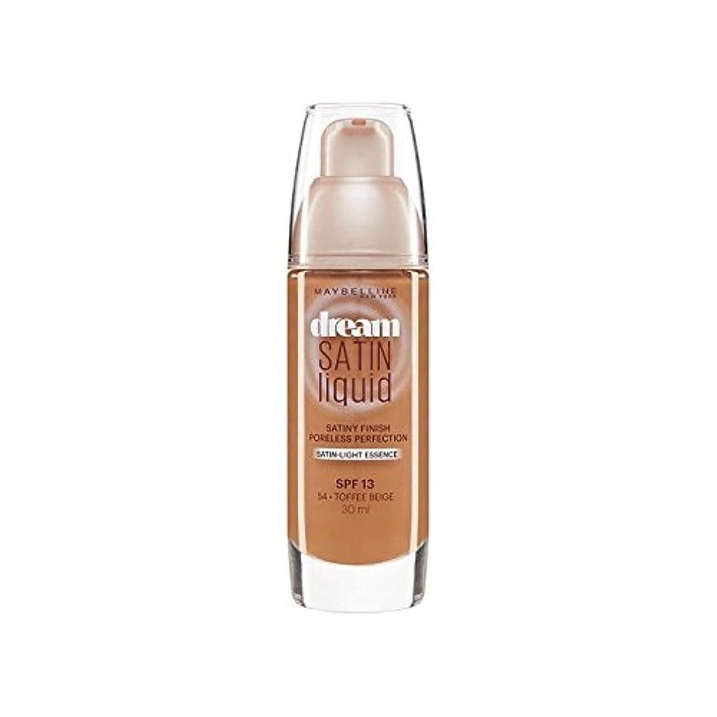 ゆでるつなぐ後方メイベリン夢サテンリキッドファンデーション54タフィー30ミリリットル x4 - Maybelline Dream Satin Liquid Foundation 54 Toffee 30ml (Pack of 4) [並行輸入品]
