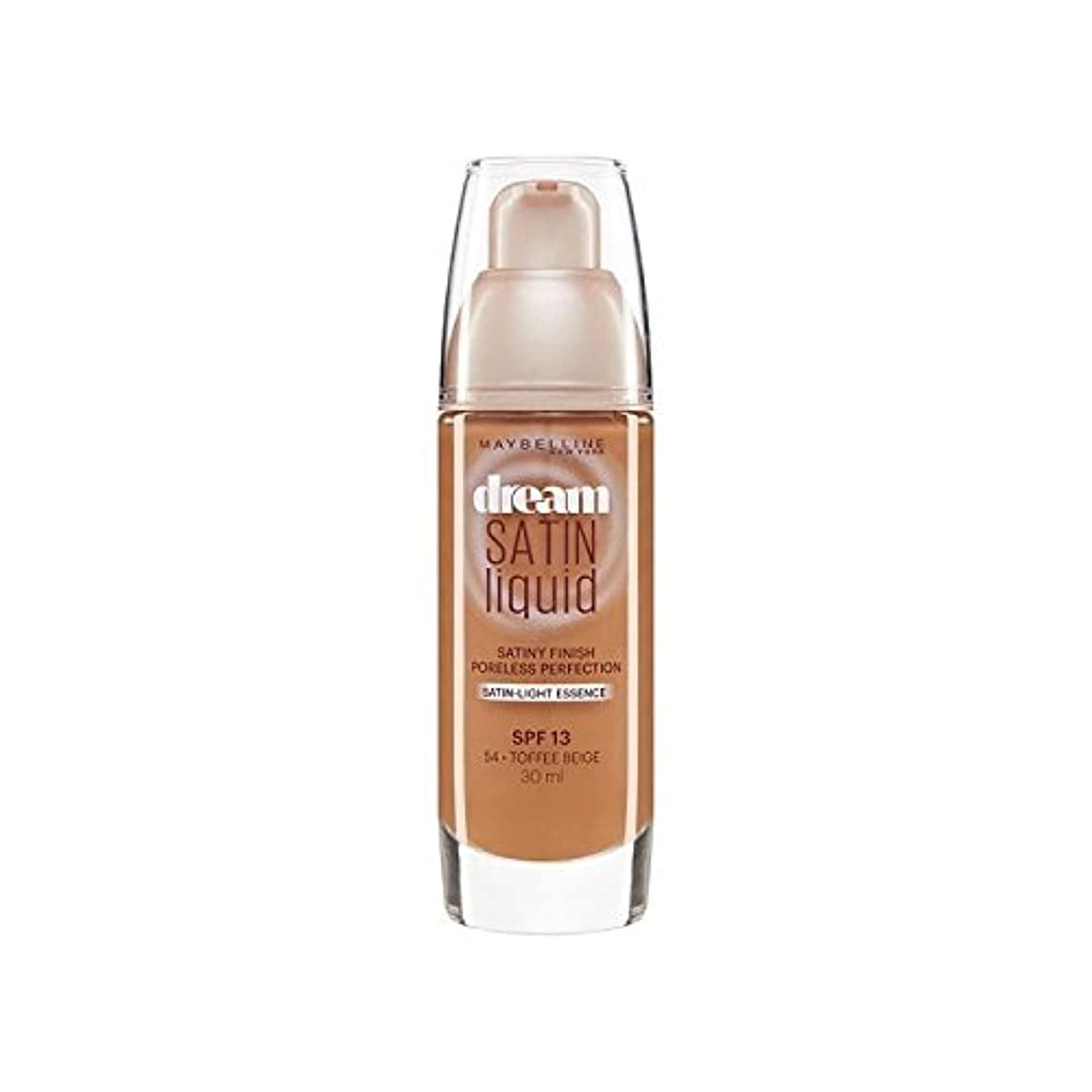 記事ドナウ川絶妙メイベリン夢サテンリキッドファンデーション54タフィー30ミリリットル x4 - Maybelline Dream Satin Liquid Foundation 54 Toffee 30ml (Pack of 4) [並行輸入品]