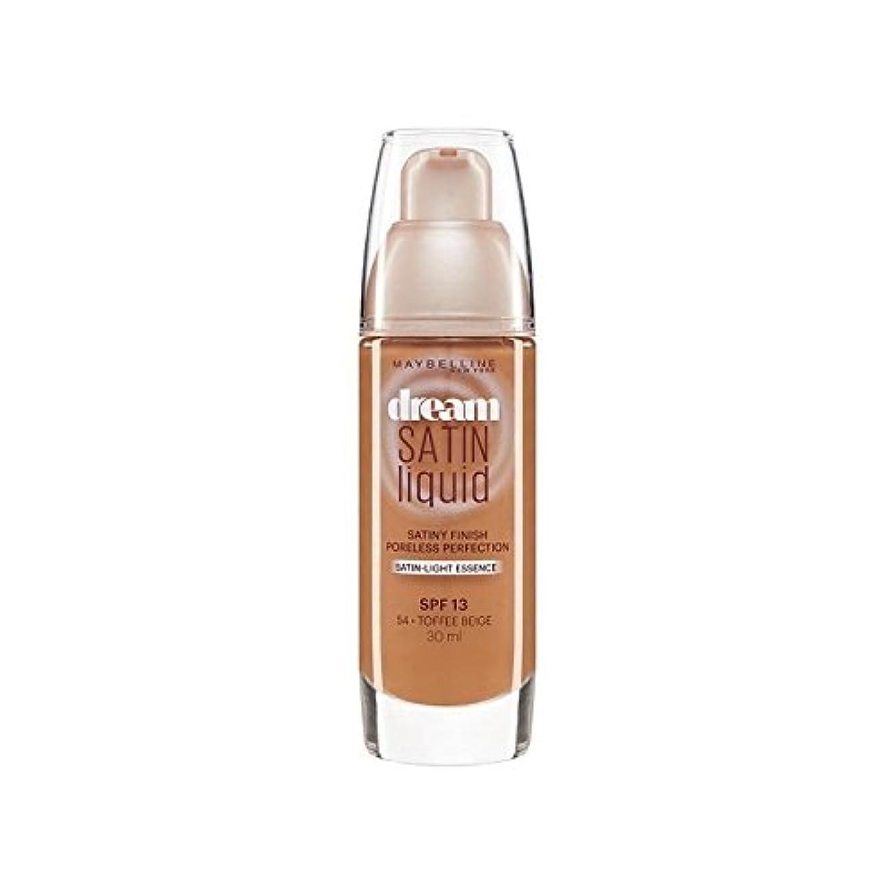 温度区別する受信メイベリン夢サテンリキッドファンデーション54タフィー30ミリリットル x4 - Maybelline Dream Satin Liquid Foundation 54 Toffee 30ml (Pack of 4) [並行輸入品]