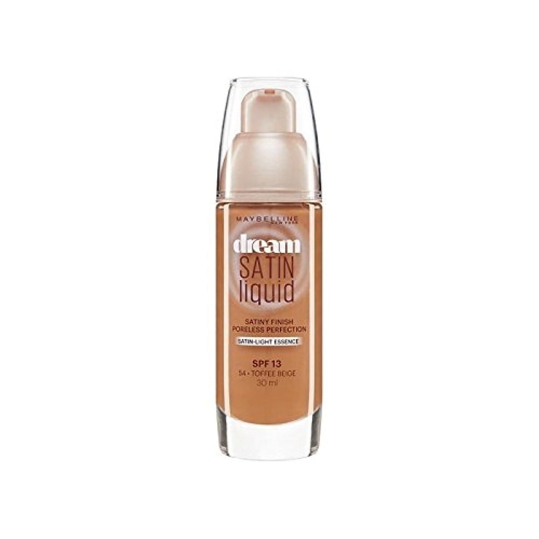 抑圧者評判金銭的なメイベリン夢サテンリキッドファンデーション54タフィー30ミリリットル x2 - Maybelline Dream Satin Liquid Foundation 54 Toffee 30ml (Pack of 2) [並行輸入品]