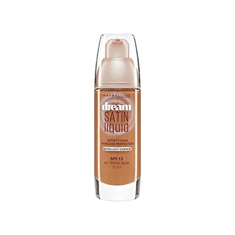 愚か謙虚ピービッシュメイベリン夢サテンリキッドファンデーション54タフィー30ミリリットル x2 - Maybelline Dream Satin Liquid Foundation 54 Toffee 30ml (Pack of 2) [並行輸入品]
