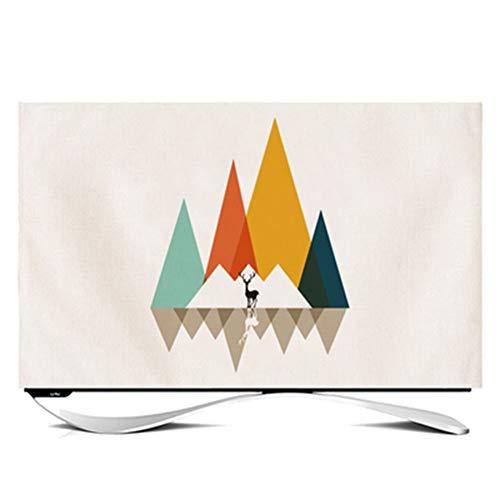 LIUDINGDING-zheyangwang Cubierta de TV Cubierta De Polvo De Electrodomésticos TV LCD Colgando Superficie Vertical Estampado Geométrico (Color : Num2, Size : 32 Inches)