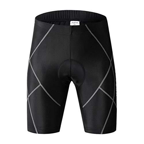 Tree-fr-Life Professionnel Respirant Femmes Hommes Shorts De Compression À Séchage Rapide Au Genou Longueur Pantalon Leggings pour Sport VTT Cyclisme Noir et Gris 2XL