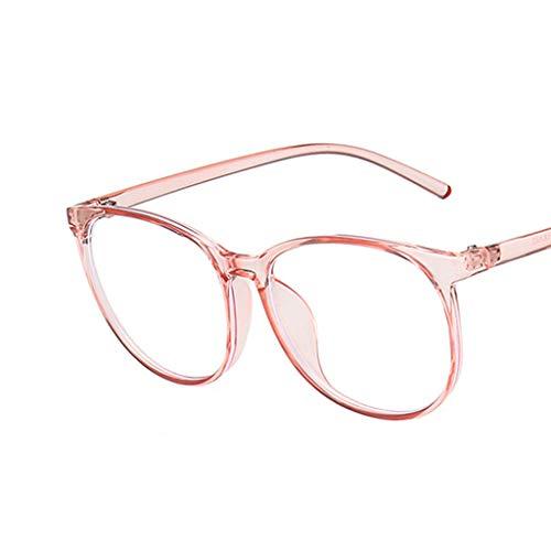 Gafas MINGSTORE Anti luz Azul con Filtro de Bloqueo, Gafas Redondas para Ordenador, Gafas con Montura súper Ligera para Hombres y Mujeres, Gafas Transparentes Rosas