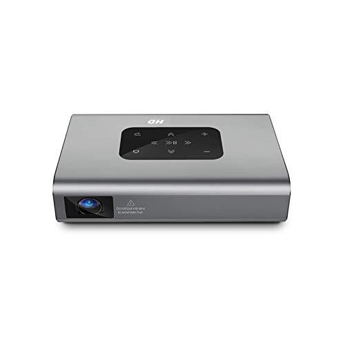 SHUNFENG-EU Proyector, X5 4K Android WiFi 3D 250 ANSI LUMENS1080P DLP Mini proyector portátil Proyector de TV Inteligente HDMI.