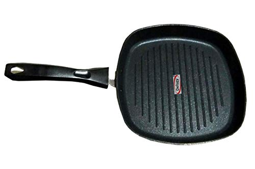 Delsey Square Grill Pan, Black/Red (22cmx22cm)