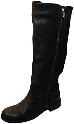 Vera Gomma 352 Damen Stiefel, echtes Leder, Wadenhohe, Made in Italy, schwarz 38.