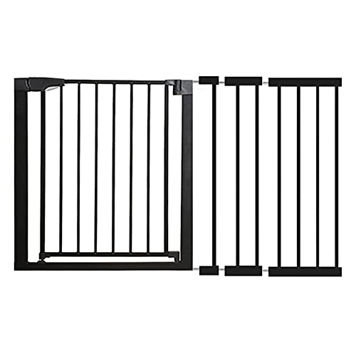 WYYY Stair Gate Protective Gate 61-131 For Children Safety Gate Expandable With A Separate Extension(Size:124-131cm,Color:black)