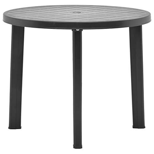 Festnight Table de Jardin Carrée | Table de Jardin | Table de Jardin Anthracite 89 cm Plastique