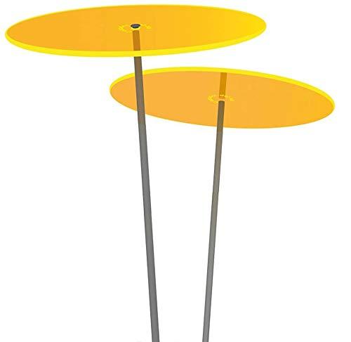 Cazador-del-sol | Duo | 2 x sun catcher Jaune, Diamètre 20 cm, 1,75 mètres de haut - L'original