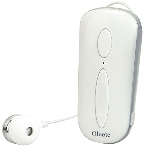 Oluote Auricolare Bluetooth Business, Auricolare Bluetooth Senza Fili con Microfono, Bluetooth V4.1, Vivavoce, 120 Ore di Standby, Compatibile per iPhone Cellulare Android (Bianca)