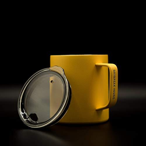 Daybreak Young | Double Wall Vacuum Insulated Travel Mug, Coffee Mug, 12 oz (Matte Yellow)