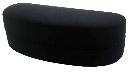 Face Trick glasses メガネハードケース PUソフトレザーマット ブラック ハイカーブサングラスなどラージサイズのアイウェア収納に最適 FT648-4