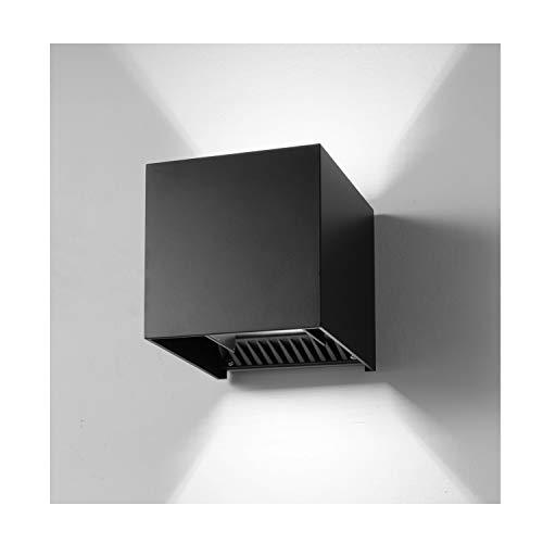 INHDBOX LED Exterior Wall Lamp,4.7 Adjustable Outdoor Porch Wall Mounted Lighting Fixtures,12W Cool Light 6000K ?Aluminum Waterproof IP65