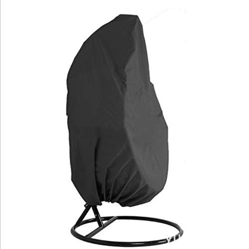 DONGZHI Cáscara de Huevo Columpio Silla Polvo Cubrir Proteccion Caso Antipolvo Impermeable 210D UV Proteccion Jardín Patio Mobiliario Cubrir Bolsa (Color : Black, Size : 190x115cm)