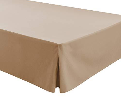 Easycosy - Spannleintuch für Tiefe Matratzen (32 cm) ATENEA, mit Volant-Rüschen Bettvolants - Bett 90cm - Farbe Beige (90x190/200cm)