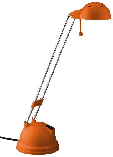 orange farbene Schreibtischleuchte Salsa, G08048/77 Brilliant