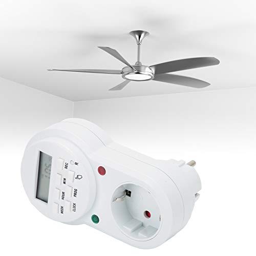 Temporizador Programable, Enchufe De Temporizador, Salida De Temporizador De Mejora Del Hogar Para Electrodomésticos De Cocina, Lámparas, Ventiladores