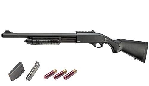 GOLDEN EAGLE M870 [ポリスタクティカル] 3バレル 3発 or 6発 発射 ガス ショットガン 134a対応 Polic Tactical BK [ブラック] // ゴールデンイーグル ブリーチャー GE-M8870-BK