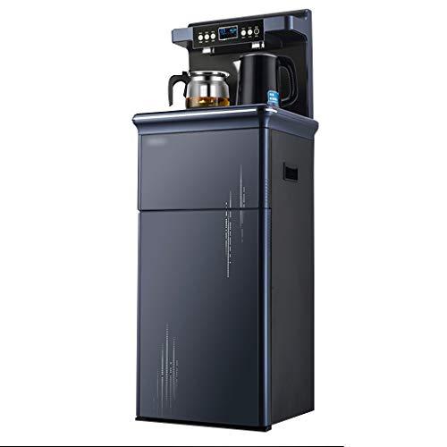 Wasserspender Vertikaler Haushaltswasserspender Desktop-Wasserspender Mit Zwei Auslässen Kühl- Und Heizwasserspender (Color : Blue, Size : 38 * 34 * 114cm)