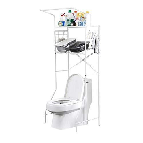 Hgjghjfghfgfgfgfg Multifunctioneel instelbaar formaat badkamer plank over de toilet opbergruimte met stelvoet pad ruimtebesparing over wasmachine, breedte 74-97 cm (29.1-in-38.2in)