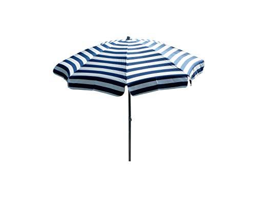 Maffei Art 72 Mare, Parasol Rond diamètre cm 200, Tissu dralon, Made in Italy. Couleur Blanc/Bleu