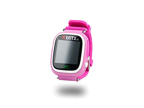 Xblitz Kids Watch GPS-Love Me roze, interactieve smartwatch met GPS en actieve oudercontrole, microsimkaartsleuf, SOS-functie, WIFI blauw/roze