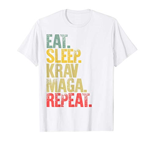 Eat Sleep Repeat Gift Shirt Eat Sleep Krav Maga Repeat Camiseta
