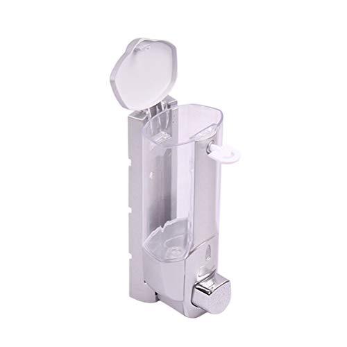 Topbathy - Dispensador de jabón de alto rendimiento (350 ml), color gris plateado