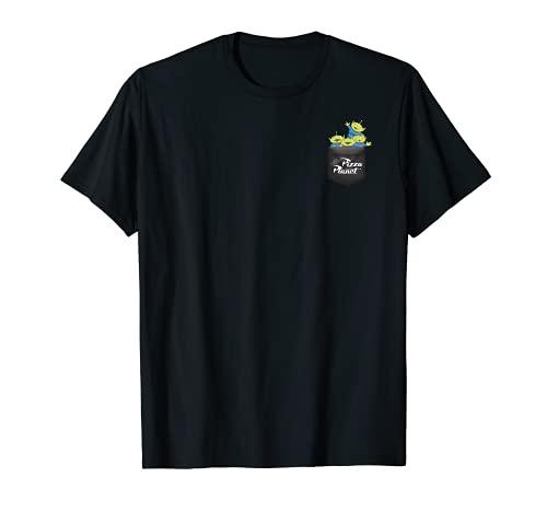 Disney Pixar Toy Story Pizza Planet Aliens Left Chest Camiseta