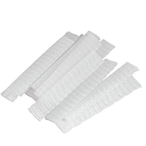 SUPVOX Protecteur de pinceau de maquillage de 100 pcs filet d'emballage en plastique blanc pratique couvre-manchons extensibles en maille pour les pinceaux protecteurs gardent plus propre blanc