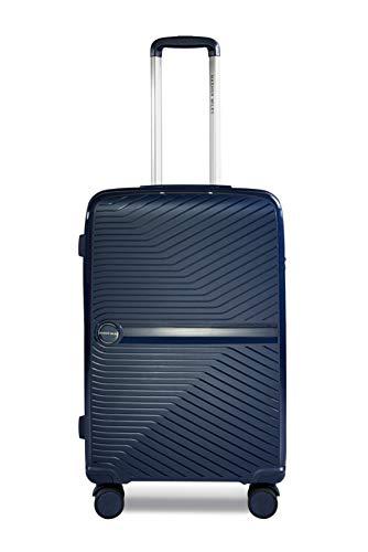 Nasher Miles Bruges Polypropylene 65 cms Navy Blue Hardsided Check-in Luggage (NM A849 Bruges Navy Blue 24)