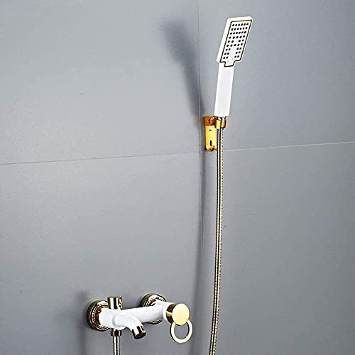 Grifo de bañera con Ducha de Mano de 3 Funciones - Mezclador de bañera, Incl.Soporte de Ducha y Flexo de Ducha de 1,5 M, Grifo de bañera Negro - Mezclador de bañera Monomando