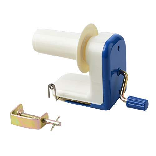 Xligo Portable Swift Yarn Fiber Winder Hand-Operated Yarn Wool Winder Holder String Ball Thread Skein Household Blue Machine Tool