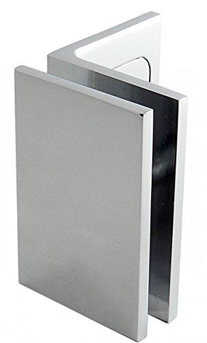 Winkelverbinder Fixum LS, Glas-Wand, Langloch m. Abdeckung, 90°, Chrom