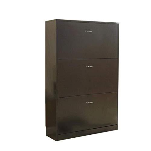HLL Gabinete de zapatos, gabinete de pasillo moderno y simple, gabinete de zapatos con inclinación ultrafino, armario nórdico multifunción de gran capacidad,Negro