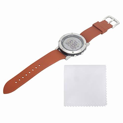 Demeras Reloj de Pulsera Deportivo al Aire Libre Reloj de brújula Montañismo Presión de altitud Reloj de Pulsera Impermeable para Correr y Montar