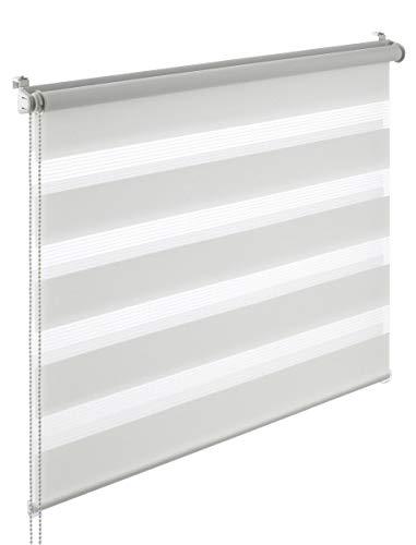 Yoursol Doppelrollo EasyFix 55x150 cm, Blickdicht, Weiß, ohne Bohren, zum Klemmen oder Kleben, Seitenzugrollo für Fenster und Tür
