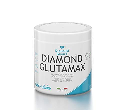 DIAMOND GLUTAMAX - Integratore a base di L-Glutammina in polvere - 250g - Vegano, No ogm, Senza glutine, Senza lattosio - Diamond Life