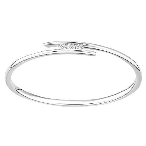 Naava Women White Diamond Promise Ring - Size N PR12829W-N