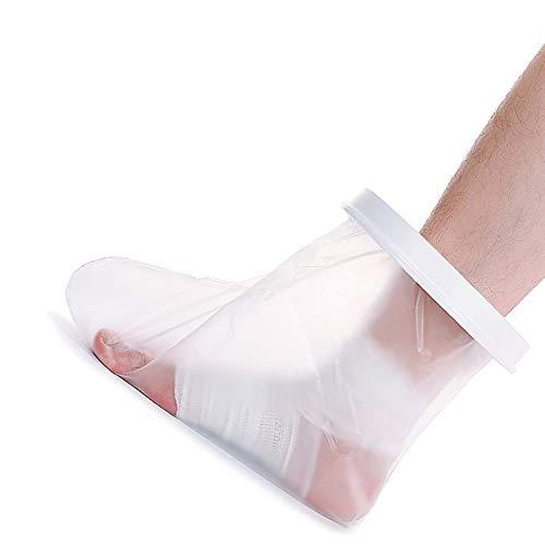 NACHEN Protector Impermeable para Vendajes o yesos para piernas largas para Unisex-Adulto,la Mejor protección contra el Agua, Mitad de la Pierna