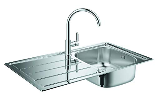 GROHE Bau Küchenspülen-Set (aus Spüle und Küchenarmatur) edelstahl, 31562SD0